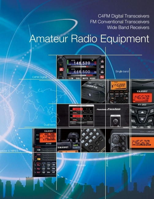 Katalog radiotelefonów YAESU C4FM i FM VHF/UHV