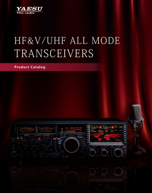 Katalog transceiverów YAESU HF, VHF/UHV