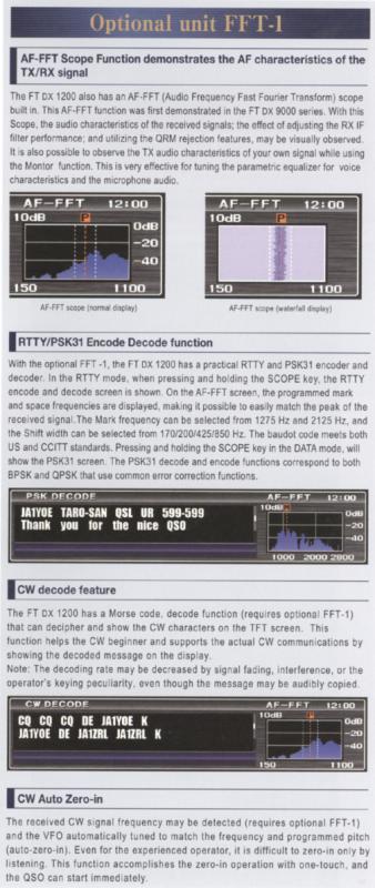 Moduł do dekodowania emisii cyfrowych FFT-1