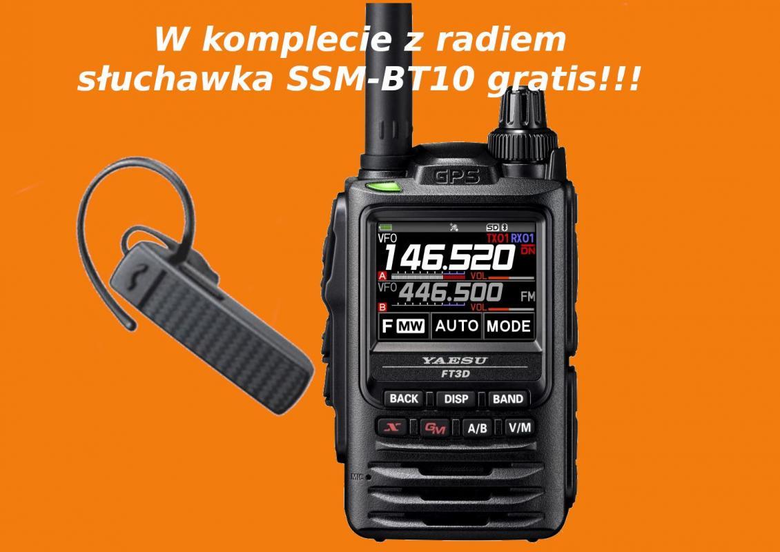 YAESU FT3DE - nowa niższa cena + słuchawka Bluetooth SSM-BT10