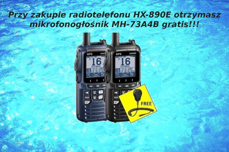 Standard Horizon HX890E + MH-73A4B GRATIS!!