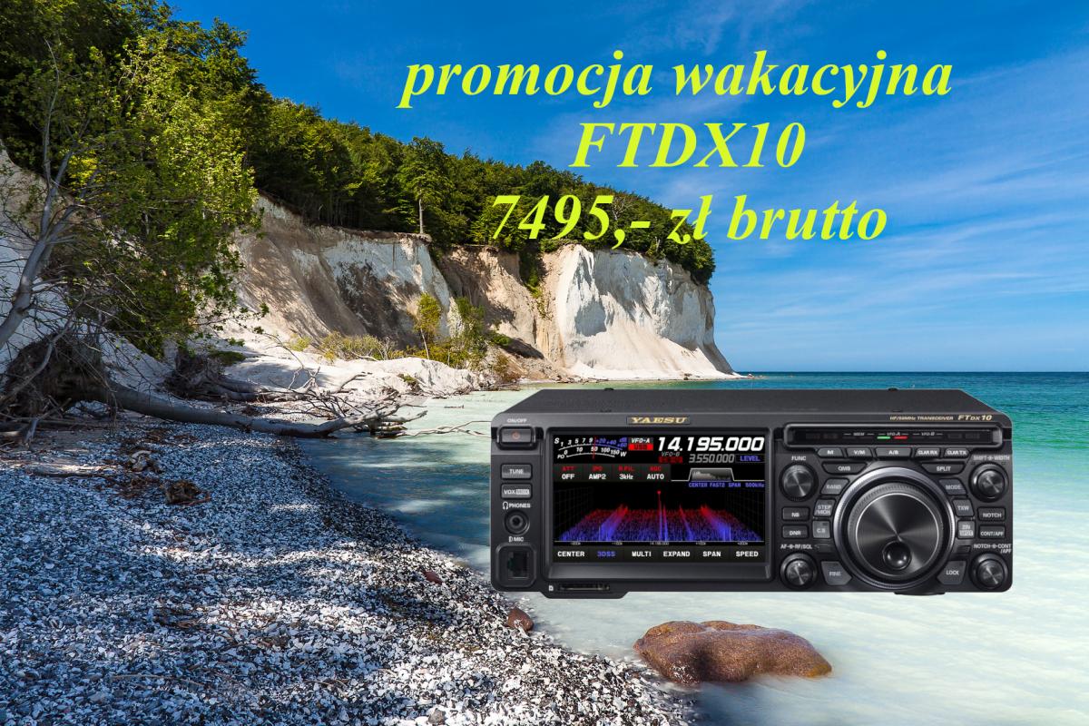 YAESU FTDX10 - WAKACYJNA PROMOCJA + BON NA 100 EUR + rączka do przenoszenia MHG-1 gratis!!!