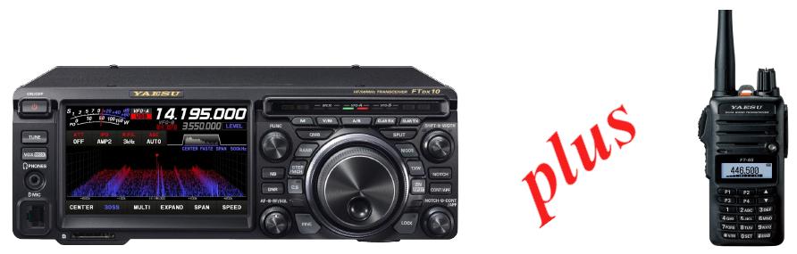 YAESU FTDX10 + FT-65E + BON NA 100 EUR + rączka do przenoszenia MHG-1 gratis!!!