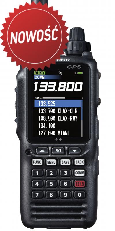 YAESU FTA-850L z GPS, ILS, VOR oraz z wyświetlaczem trasy lotu i nawigacją - już dostępny w naszej firmie !!!