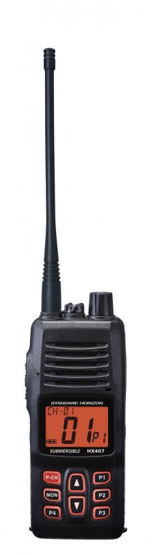 Standard Horizon HX407E na pasmo UHF do łączności pokładowej
